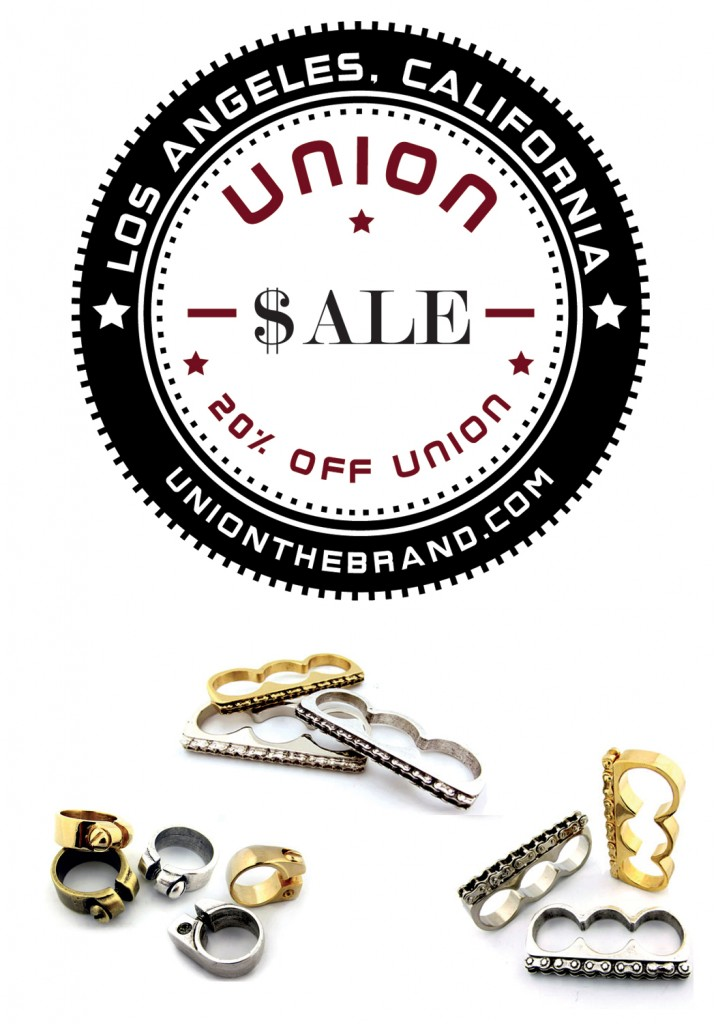 20 percent off UNION Gear this weekend at UNION & Friends Pop Up Shop!
