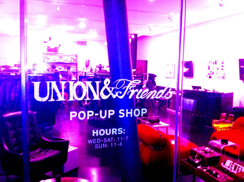 union & friends pop up shop in venice